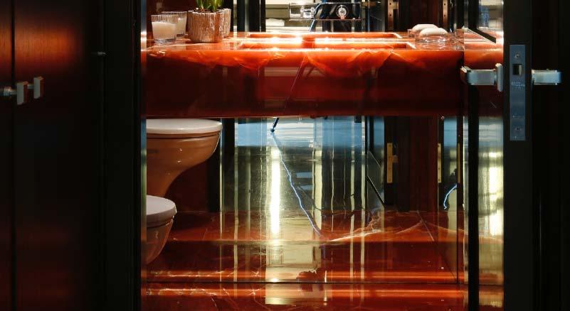 Pavimento Rosso Lucido : Bagni domus petra artigiani del marmo